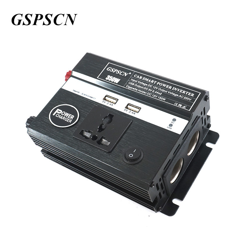 GSPSCN Car Power Inverter DC 12V to AC 220V Multifunction Portable Mini Car Inverter with 2 USB Port Charger Travel Converter 1000w car 12v dc to 220v ac power inverter with usb power port