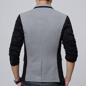 Image 4 - Брендовая одежда Liseaven, блейзер, мужское модное пальто, тонкая мужская одежда, повседневные однотонные мужские блейзеры
