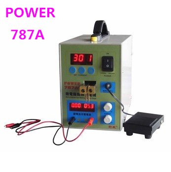 POWER 787A+ MCU Spot Welder Battery Welder Applicable Notebook and Phone Battery Precision Welding Pedal 600pk stud welding dent pulling system stud welder spot welds pins straight and twisted washers ss 600