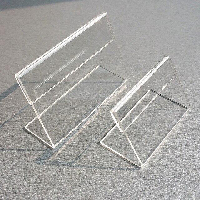 الجملة واضح T2mm A4 A5 البلاستيك الاكريليك تسجيل عرض عرض ورقة تعزيز مفارش طاولة بألوان متعددة تسمية أصحاب L حامل أفقي 500 قطعة