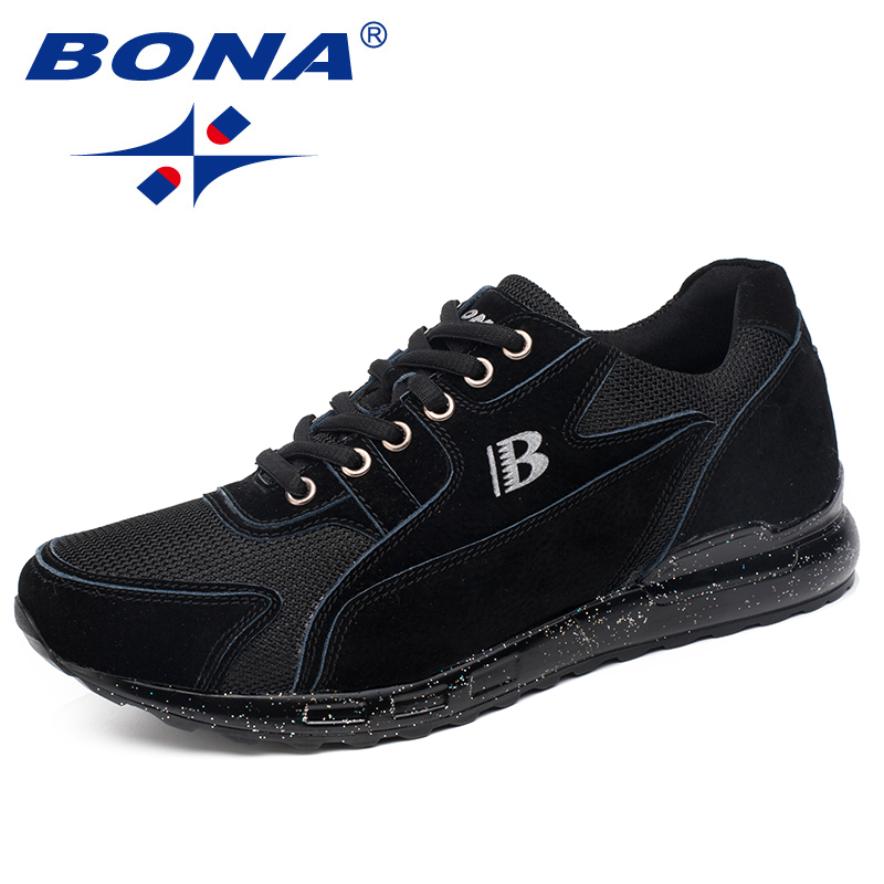 BONA New Classics Style Men Running Shoes PU Out Sole Sport Shoes Lace Up Outdoor Walking