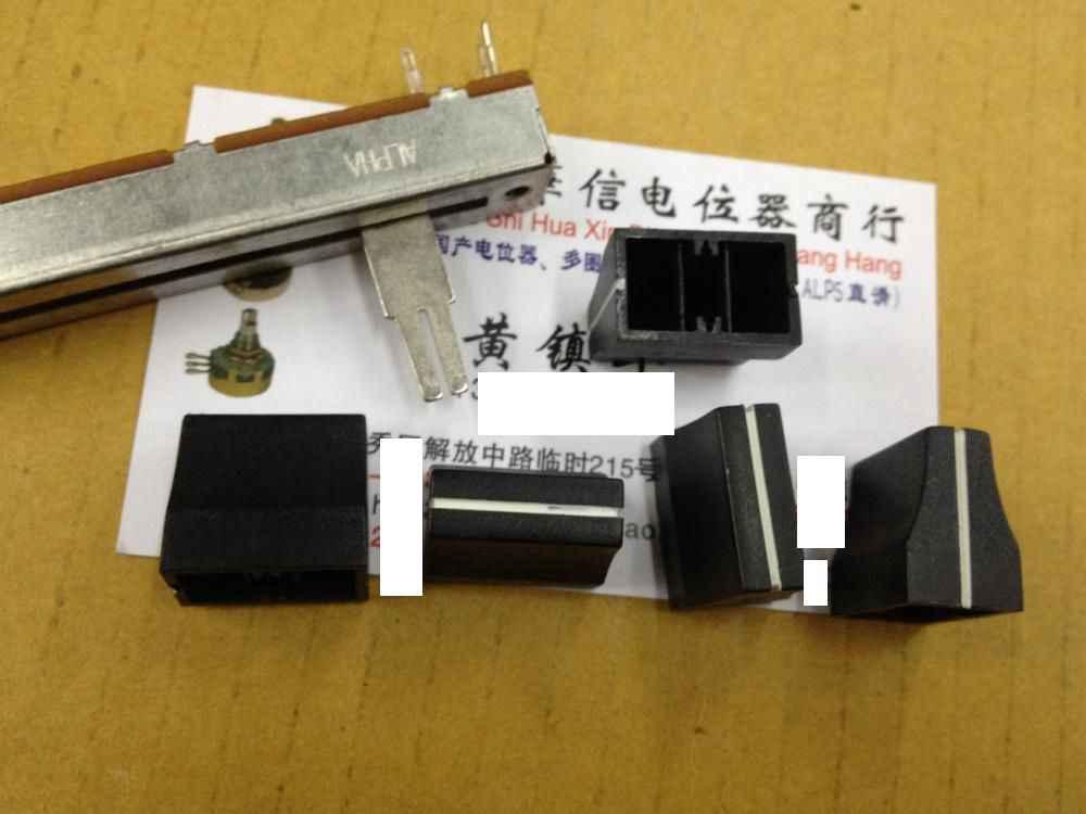 1 20A6 pçs/lote Preto lidar com misturador fader tampas