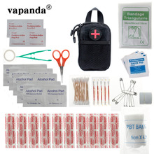 Vapanda Nylon Survival Kit Taktis Pertolongan Pertama Kit Militer Hiking 69 PSC EMT Darurat EDC Luar Medis SOS Survival Kit