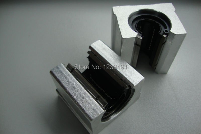 Free shipping 4PCS SBR16UU SBR16 16mm Linear Ball Bearing Block CNC Router free shipping sc16vuu sc16v scv16uu scv16 16mm linear bearing block diy linear slide bearing units cnc router