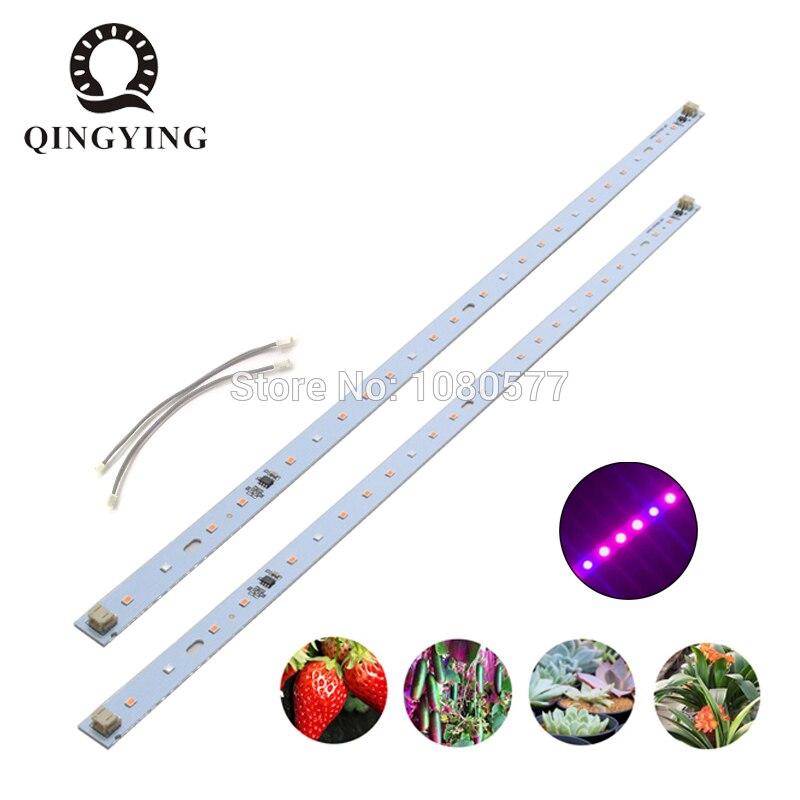 20 pièces 220 V LED élèvent les systèmes hydroponiques des lumières 10 W 520mm SMD2835 élèvent la barre de LED rigide en aluminium de bande pour l'usine de Tube de T5 T8 élèvent
