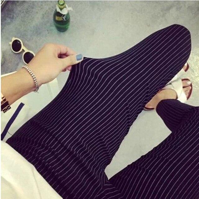 AREALNA 2017 Autumn Casual Women Pencil Pants Elastic Slim Harem Capris Black Stripe Leggings Trousers Plus Size Women Pants 5XL