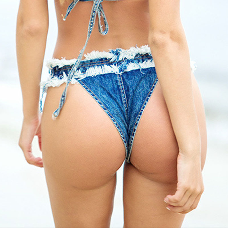 Frauen Sexy Super Denim Shorts 2019 Sommer Denim Baumwolle G-String Bikini Shorts Damen Skinny Sexy Club Super Short Jeans Mädchen