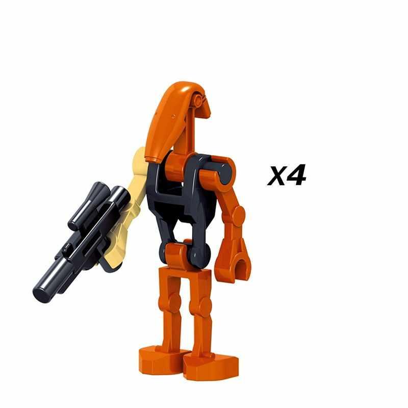 Novo 20pcs//lot Guerra Nas Estrelas Bonecos Lego Moc tijolos Robô De Combate Battle Droid