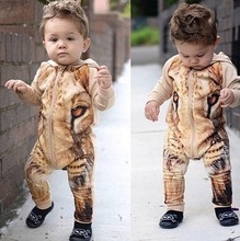 10-24 Month Autumn Baby Rompers 3D Lion baby Cotton Hoodies Jumpsuit baby girl boy Romper Newborn toddle clothing Jumpsuits