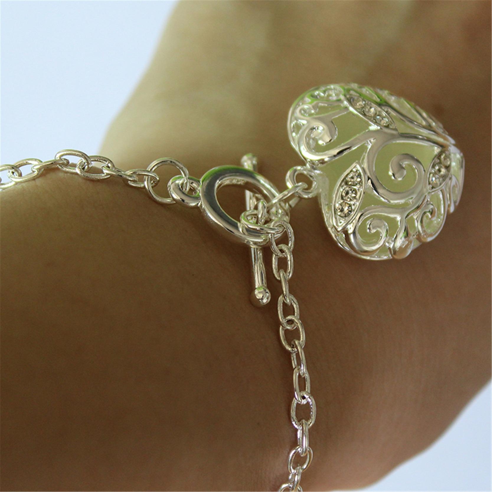 Fashion Silver Luminous Armband Glödande i Dark Heart Shaped - Märkessmycken - Foto 6