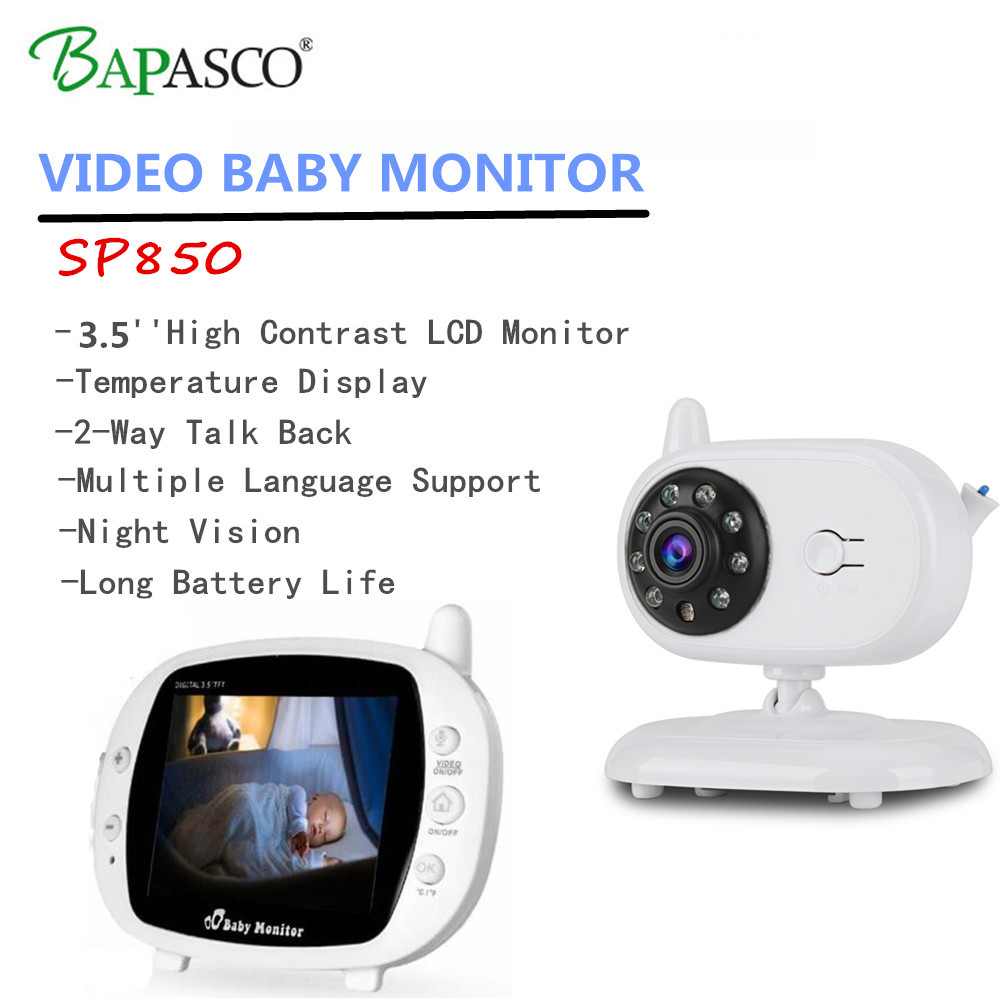 Safurance 2.4G Wireless Digital 3.5 LCD Baby Monitor Camera Audio Talk Video Night Vision High Resolution Nanny Home Security