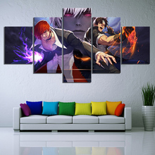5 Piece HD Cartoon Pictures The King of Fighter KOF Game Poster Paintings Canvas Art for Home Decor Wall