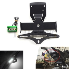 2017  Motorcycle Fender Eliminator License Plate Frame Number Holder Tail Tidy With led For Kawasaki Z900
