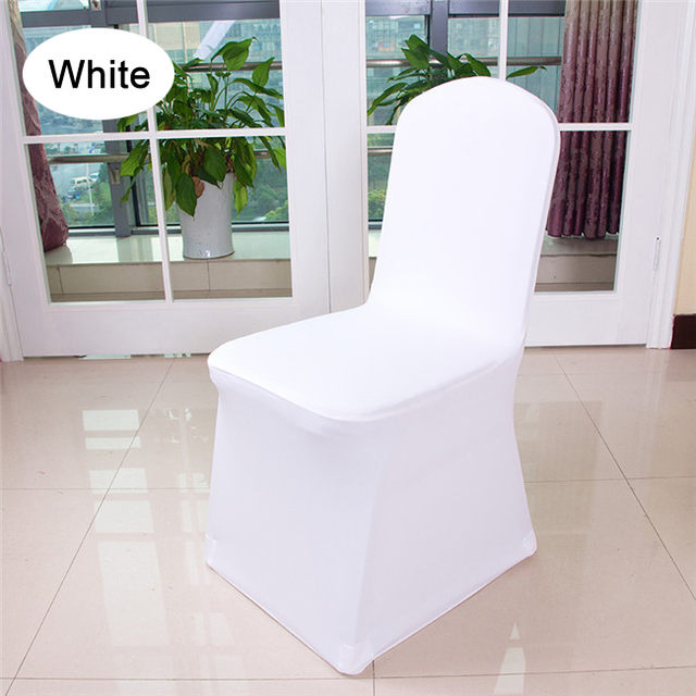 white banquet chair covers upholstered desk target free shipping wholesales 100pcs lot elastic polyester spandex cover hotel wedding