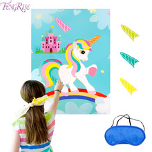 FENGRISE Unicorn Birthday Party Decoration Game Baby Shower Supplies Decorations Kids Favor