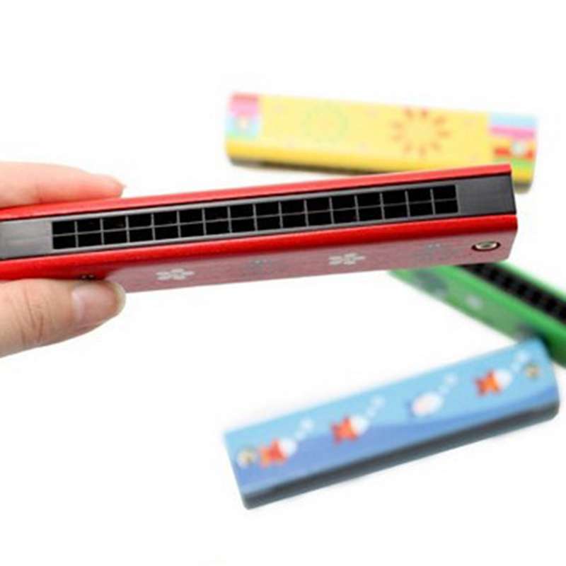 Toy Musical Instrument Toys & Hobbies Tireless 50pcs/lot Baby Wood Plastic Harmonica Fun Double Row 16 Holes Harmonica Toy Musical Early Educational Toy Random Color Jade White