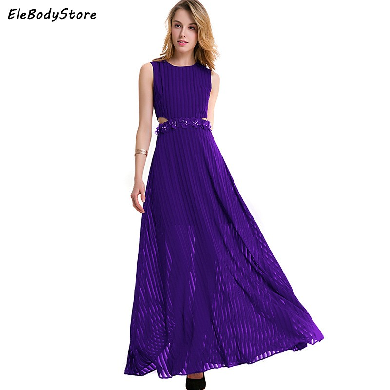 Summer Dress 2017 Vestidos Women Elegant Chiffon Long Maxi ...