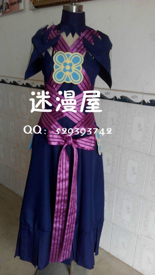 2016 Fire Emblem If Fates Aqua Dress Cosplay Costume Custom Made