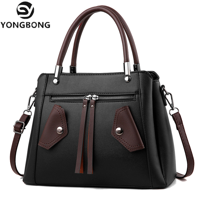 YONGBONG New Arrival Women Messenger Bag patchwork Top Handbag Ladies Smiley shoulder woman bags handbags women
