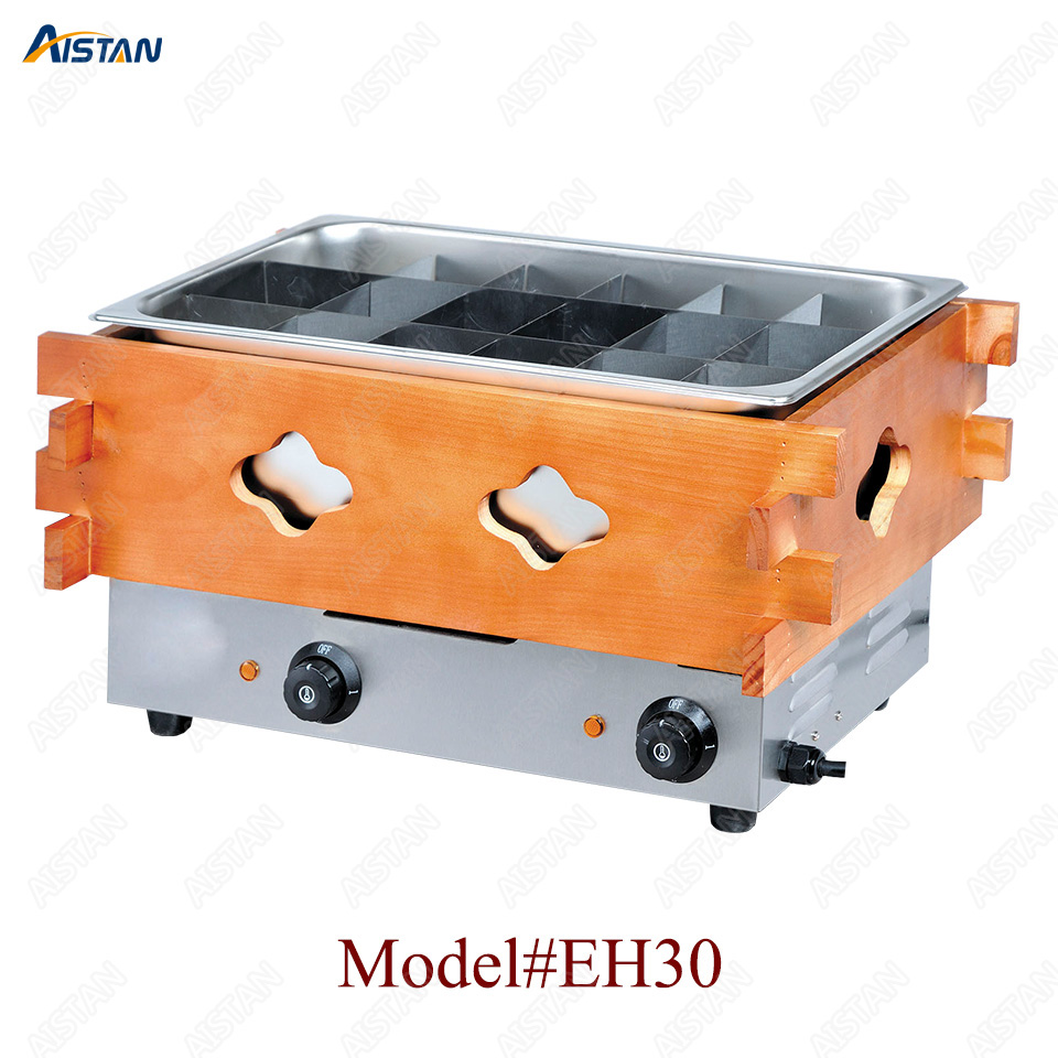 EH10/20/30 Commercial Stainless steel Kanto cooking machine with wooden decoration for kitchen equipment 3