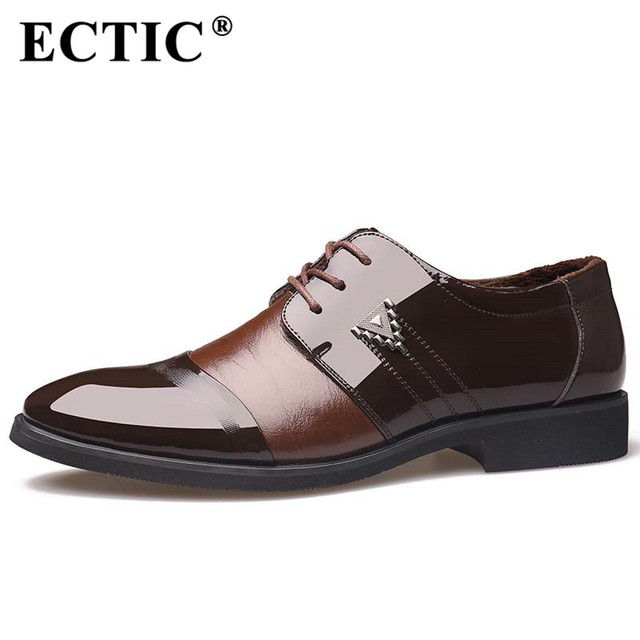 Ectic 2017 New Business Men S Office Shoes Flat Leather Gentle Wedding Dress Brand Formal British