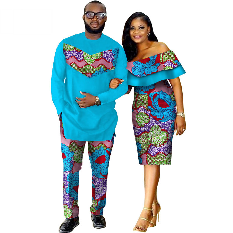 African-Dashiki-Print-Couple-Clothing-for-Lovers-Two-Piece-Set-Men-s-Suit-Plus-Women-s(17)