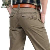 Good Quality Autumn Business Men S Casual Brand Straight Khaki Pants 100 Cotton Pant Spring Man