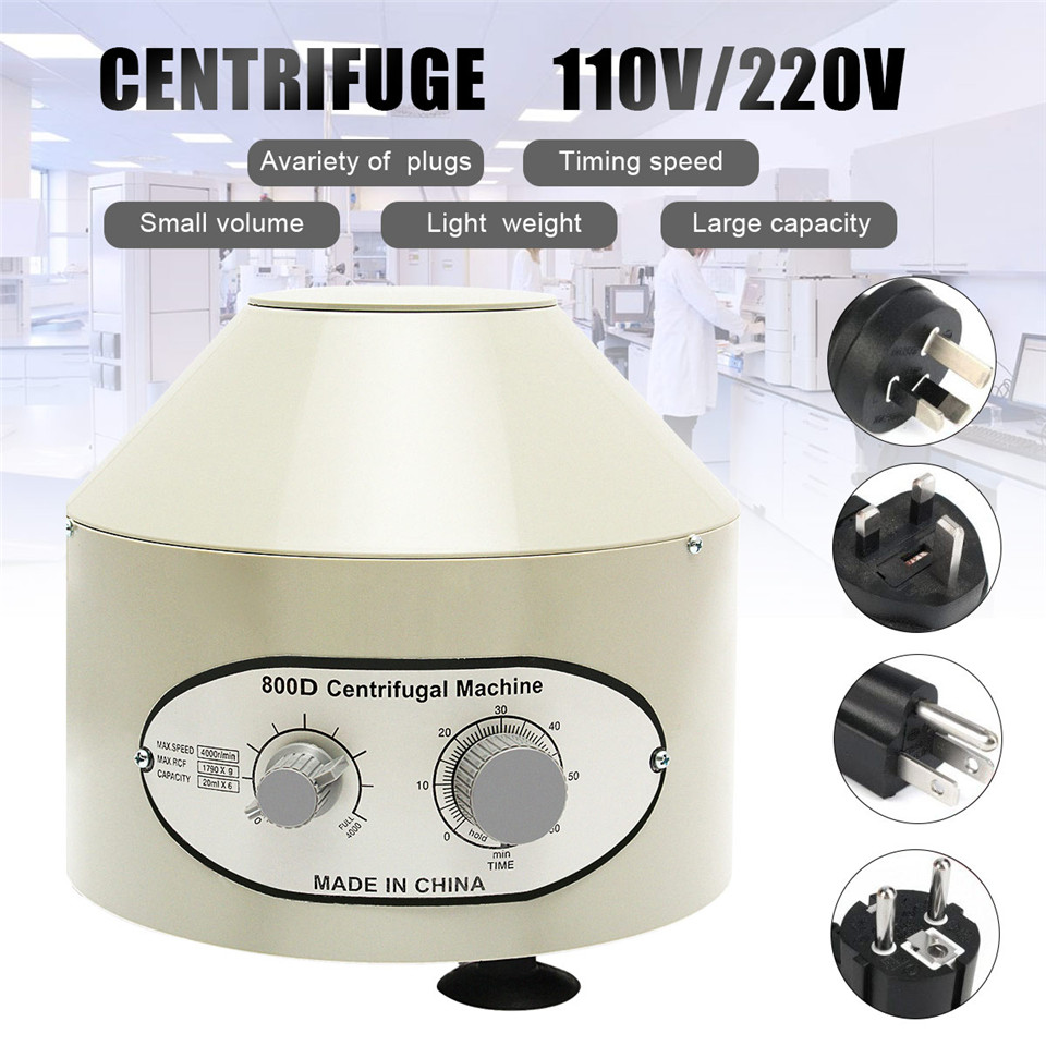 800D Electric Medical Lab Centrifuge Laboratory Machine Supplies prp Isolate serum 4000rpm 1790g 20ml x 6 centrifuge tubes 80 1 electric experimental centrifuge medical lab centrifuge laboratory lab supplies medical practice 4000 rpm 20 ml x 6