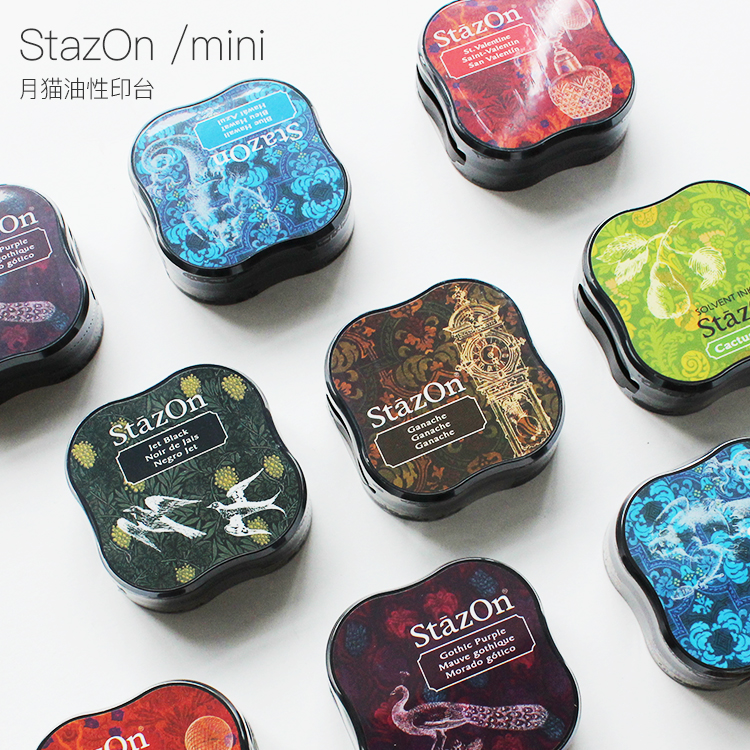 TSUKINEKO Inkpads Stazon Mini Fast Dry Oil Based Ink Pad Japan
