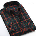 The new spring and autumn fashion brand  male long-sleeved shirt men plaid casual shirts camisa social masculina plus size 7