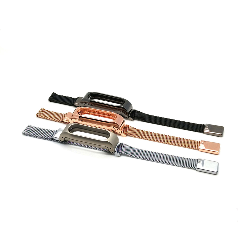 Luxury Milanese Loop Strap For Xiaomi Mi Band 2 Screwless Stainless Steel Bracelet Smart Band Replace Accessories For Mi Band 2 2