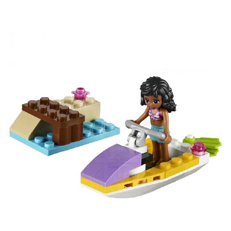 New Friends Series 10125 WATERCRAFT Jet Ski Building Block Toys For Children Assemble Toys Compatible with Bricks