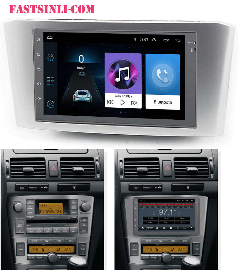 Android Auto 7Inch Radio 2din Multimedia Player Gps Navigatie Dvr Voor Toyota Avensis 2002-2008