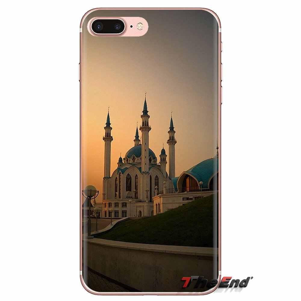 Silicone Housse Pour Huawei G7 G8 P7 P8 P9 P10 P20 P30 Lite Mini Pro P Smart Plus 2017 2018 2019 Qolsharif Mosquée Kazan La Russie