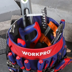 Image 4 - WORKPRO 5 Gallon Bucket Tool Organizer Bucket Boss Tool Bag with 51 Pockets Fits to 3.5 5 Gallon Bucket (Tools Excluded)