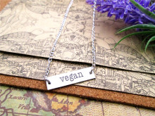 Vegan necklace + pendant (several shapes)