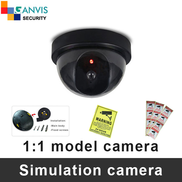1:1 model fake camera simulation cctv cameras with Flash Blinking LED dome style security dummy surveillance camera GANVIS S001 non working fake dummy phone sample display model for iphone 5