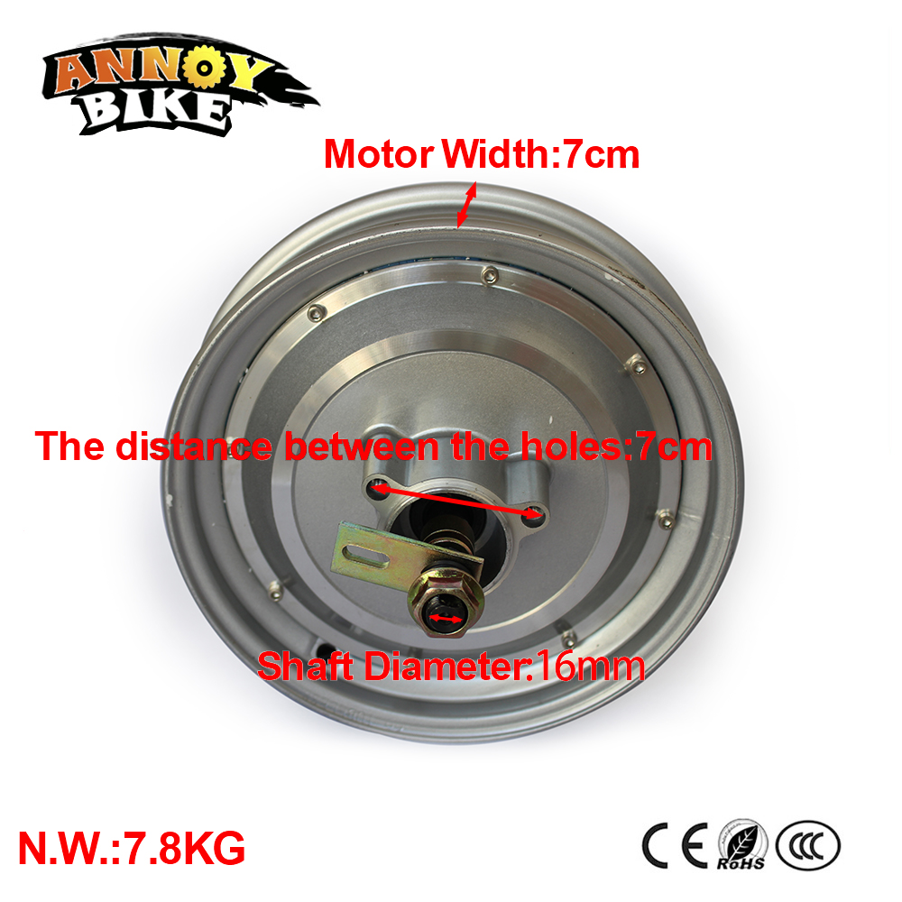 10 Inch 48V 60V 72V Hub Motor 1000W Hub Motor For Electric Motorcycle DIY Green Car DIY Electric Motorcycle Motor Ebike цены онлайн