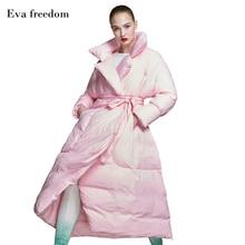 women's down jacket brands women's long down jacket thick quilt down coat belt oversize women's down jacket for winter 2018 watership down