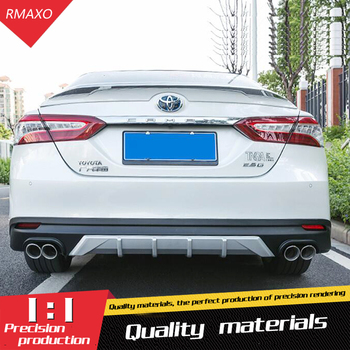 For Toyota Camry Body kit spoiler 2018-2019 For Insignia ABS Rear lip rear spoiler front Bumper Diffuser Bumpers Protector