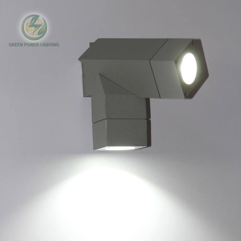 IP65 Водонепроницаемый Регулируемая GU10 База Открытый Куб пала стена света 10 Вт