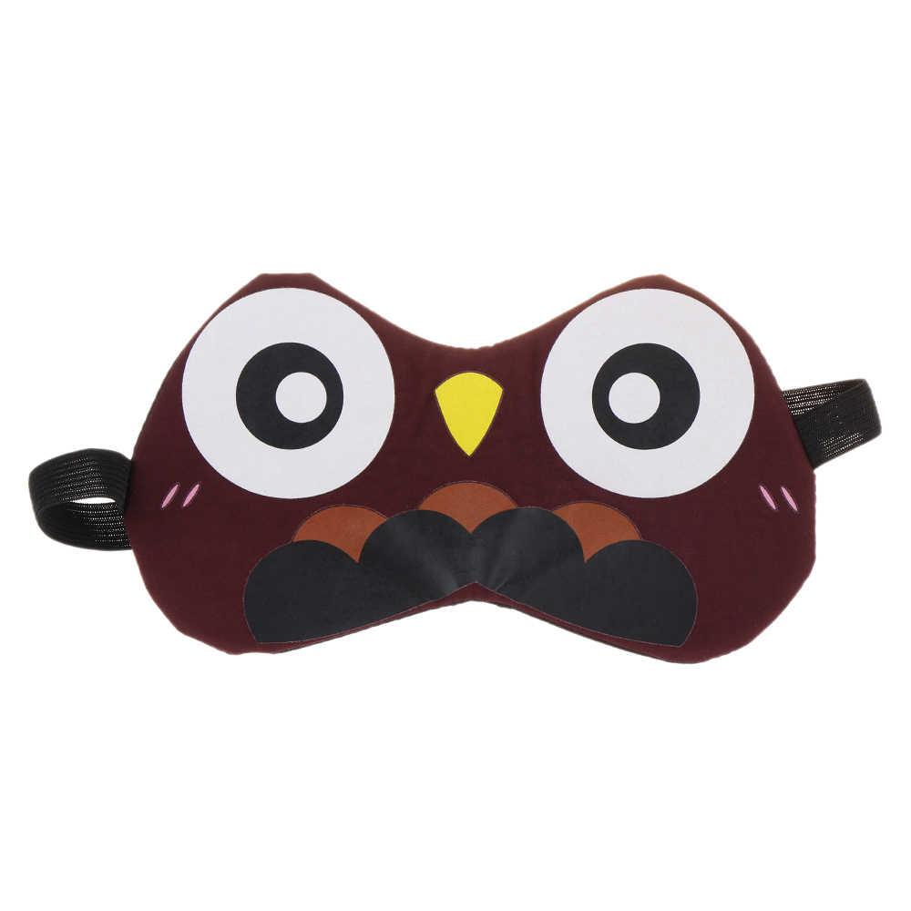 Симпатичная 3D маска для сна натуральная маска-козырек для глаз оттенок покрытия повязка для глаз для женщин и мужчин мягкая портативная повязка на глаза для путешествий