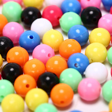 6/ 8mm Mixed DIY Multiple Color Fishing Rigging Plastic Beads Stops for Lure Spinners Sabiki(China)