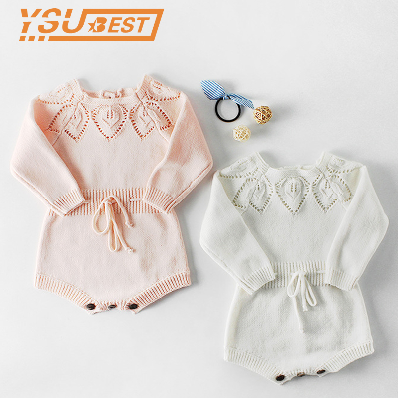 2019 Baby Knitted Clothes Spring Knitting Baby   Rompers   Girl Clothes Baby Girl   Romper   Boys Jumpsuit Overall Infant Baby Clothes