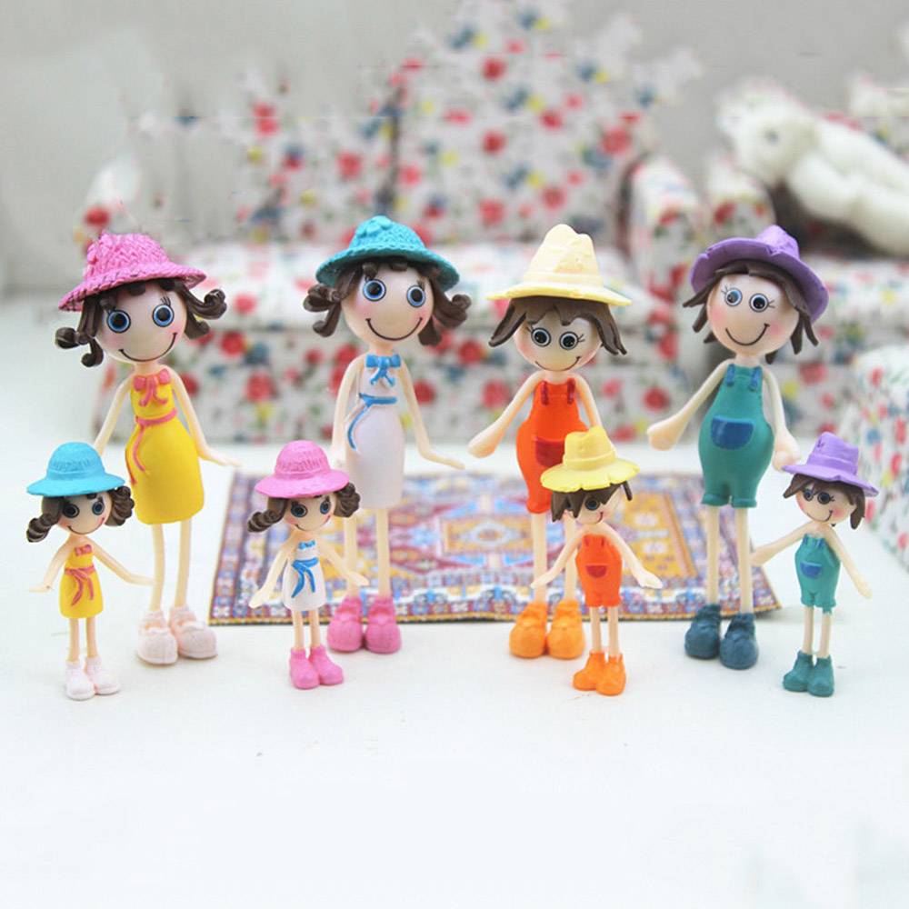 1Pcs 1:12 Dollhouse miniature doll simulation summer figure model toys  Jn