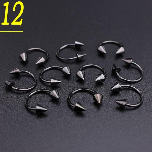 50pcs/set Black Stainless...