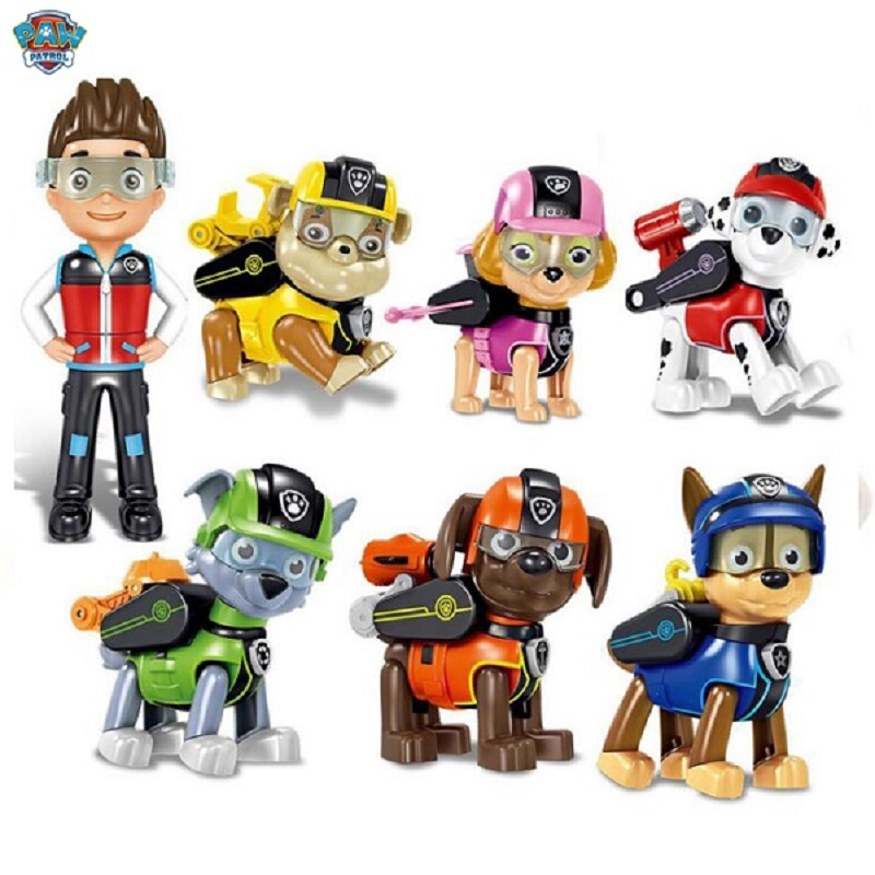 Genuine Paw Patrol Action Pack Pup Badge Chase Marshall Rocky Zuma Skye Rubble Apollo Children's Toy Free Delivery