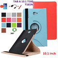 360 Degree Rotating Litchi Folio Stand PU Leather Skin Case Cover For Samsung Galaxy Tab A 10.1 T580 T585 Tablet +Film+Pen+Otg