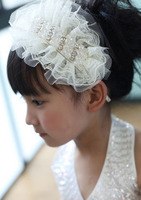 New 2 Colors Flower Hair Band Headband Baby Hair Accessories Crystals Children Accessories Girls Hair Accessories