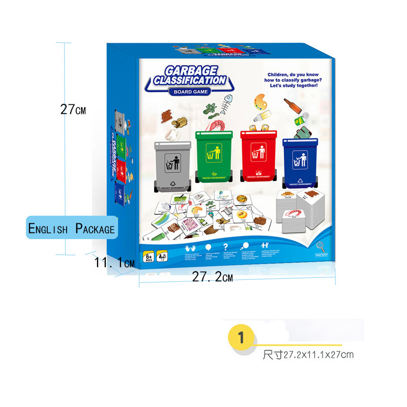 Garbage classification children 39 s Early educational toy Puzzle Observation Children Family Interactive Activity Table Game in Color amp Shape from Toys amp Hobbies